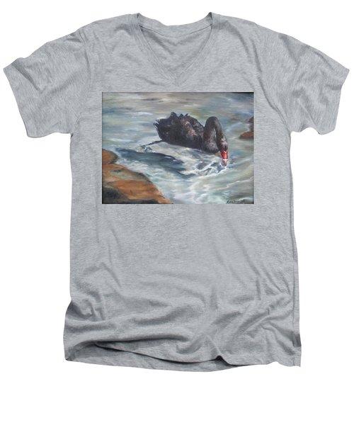 Black Elegance Men's V-Neck T-Shirt