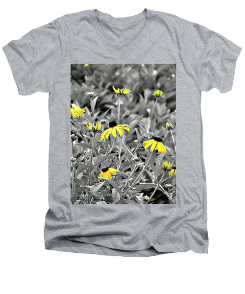 Black-eyed Susan Field Men's V-Neck T-Shirt