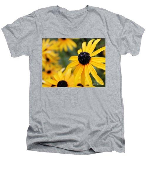 Black Eyed Susan Men's V-Neck T-Shirt by Melissa Petrey