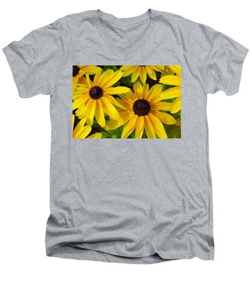 Black Eyed Susans Men's V-Neck T-Shirt by Suzanne Gaff