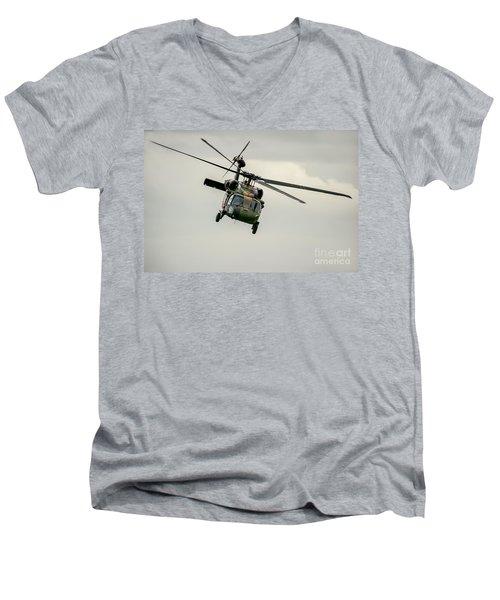 Black Hawk Swoops Men's V-Neck T-Shirt by Ray Warren