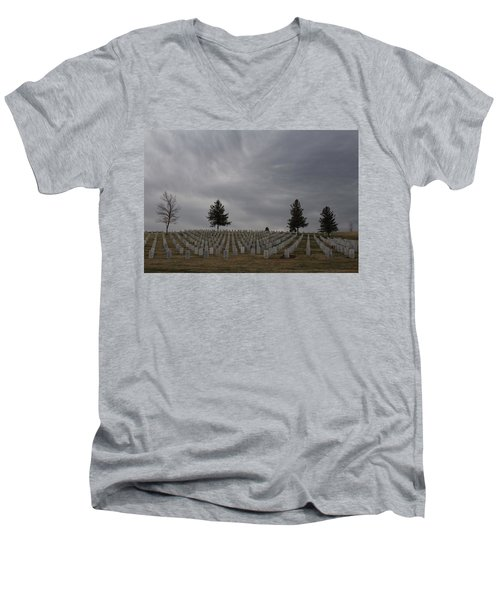 Black Hills Cemetery Men's V-Neck T-Shirt