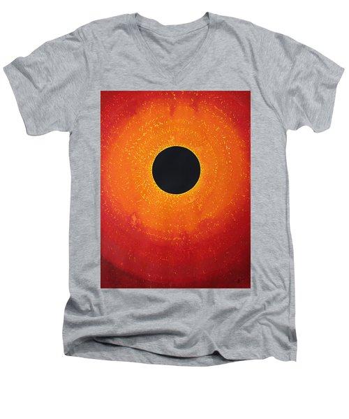 Black Hole Sun Original Painting Men's V-Neck T-Shirt