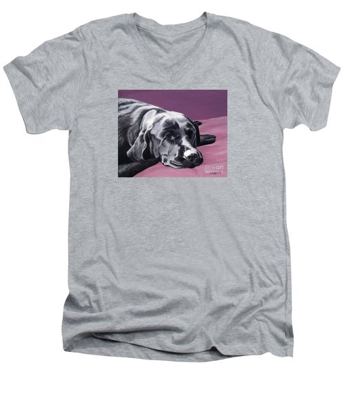Black Labrador Beauty Sleep Men's V-Neck T-Shirt
