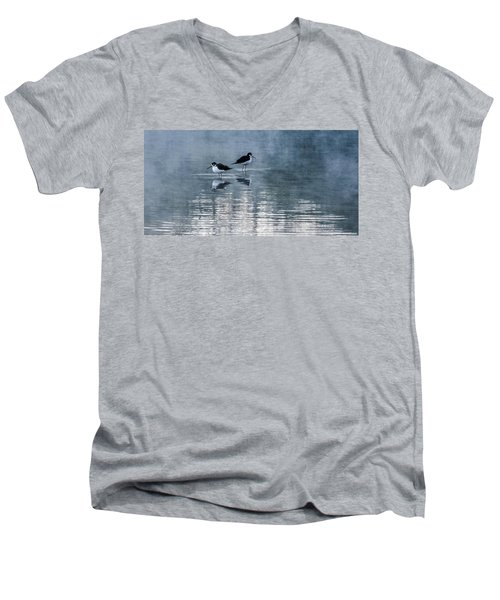 Black-necked Stilts Men's V-Neck T-Shirt by Tam Ryan