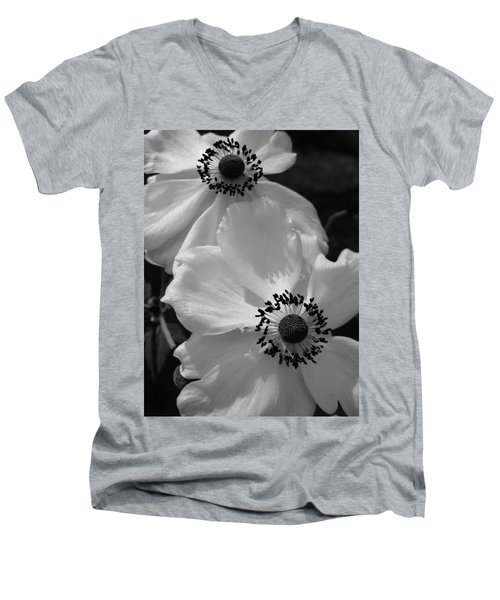 Men's V-Neck T-Shirt featuring the photograph Black On White by Cheryl Hoyle