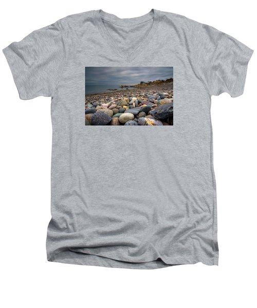 Black Rock Beach Men's V-Neck T-Shirt by Brian MacLean