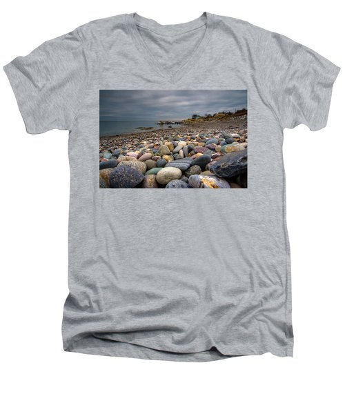 Black Rock Beach Men's V-Neck T-Shirt