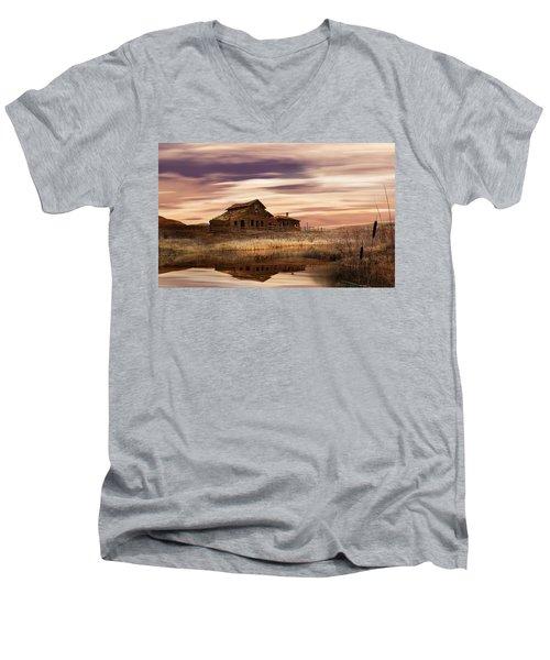 Black Sage Dawn Men's V-Neck T-Shirt by John Poon