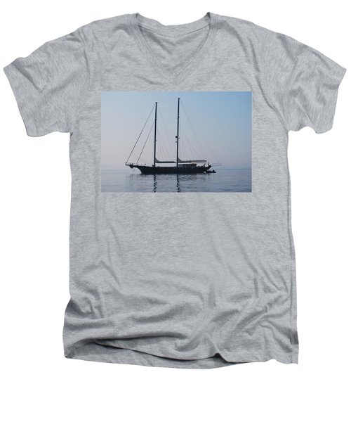 Black Ship 1 Men's V-Neck T-Shirt