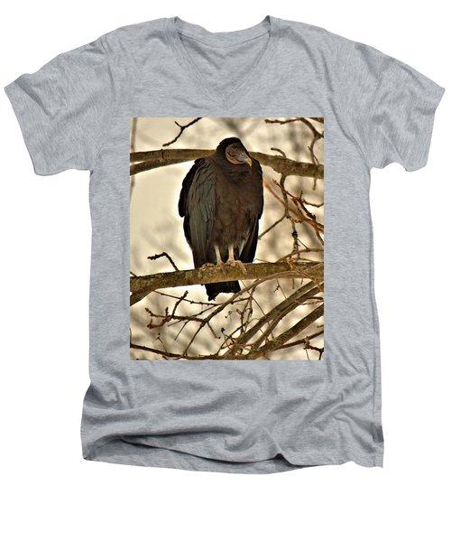 Black Vulture 1 Men's V-Neck T-Shirt