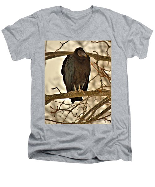 Black Vulture 1 Men's V-Neck T-Shirt