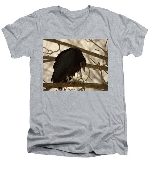 Black Vulture 4 Men's V-Neck T-Shirt