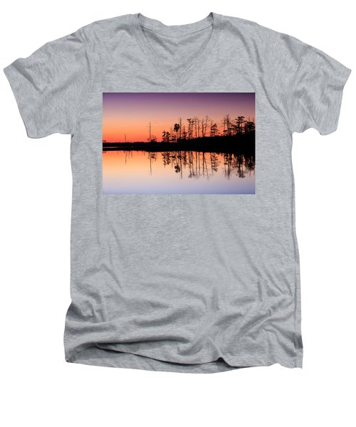 Blackwater Reflections Men's V-Neck T-Shirt