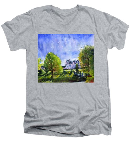 Blair Castle Bridge Scotland Men's V-Neck T-Shirt