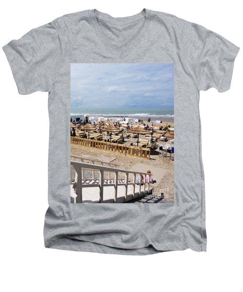 Blankenberge Beach Belgium Men's V-Neck T-Shirt by PainterArtist FIN