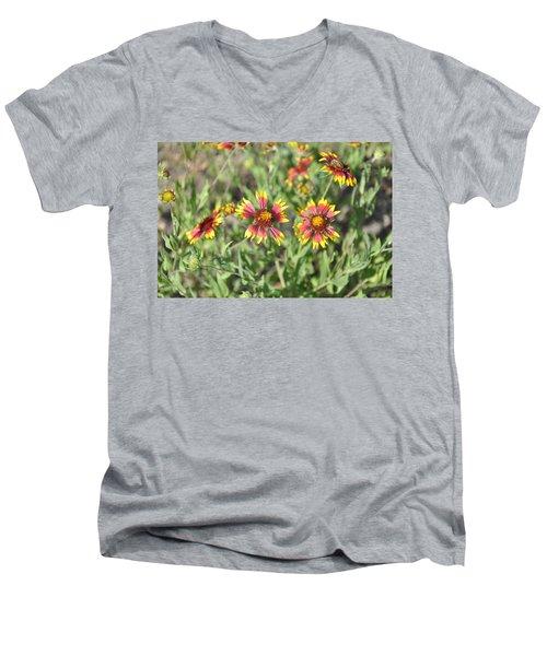 Blanketflower Men's V-Neck T-Shirt