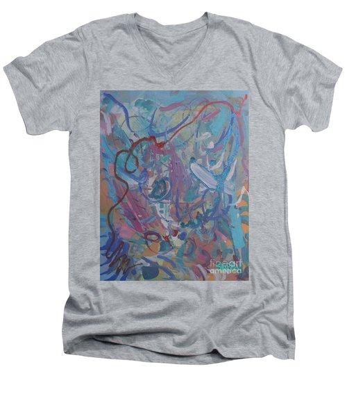 Blast Men's V-Neck T-Shirt by Skipper