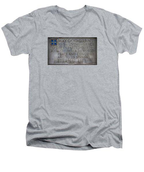 Blessing Men's V-Neck T-Shirt by Stephen Stookey
