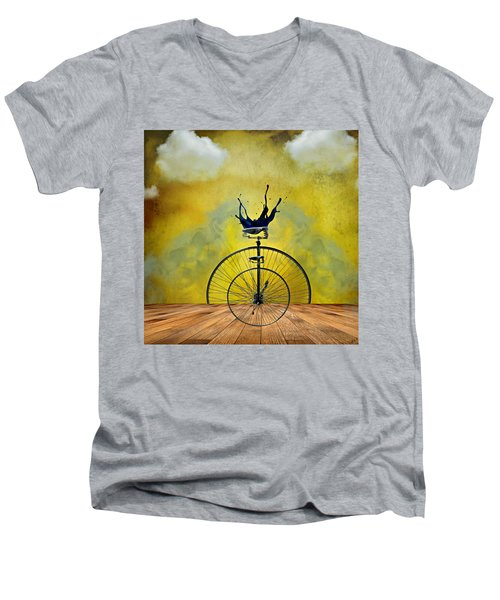 Blind Date Men's V-Neck T-Shirt by Ally  White