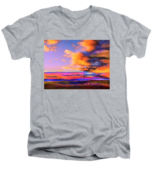 Blinn Hill View Men's V-Neck T-Shirt