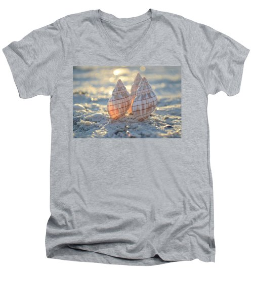 Men's V-Neck T-Shirt featuring the photograph Blissful by Melanie Moraga