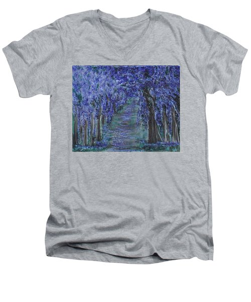 Blissful Walk Through Purple Men's V-Neck T-Shirt