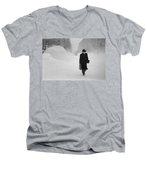 Blizzard On Park Avenue Men's V-Neck T-Shirt