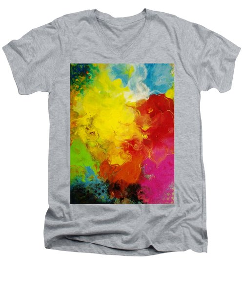 Spring Fling Men's V-Neck T-Shirt by Kelly Turner