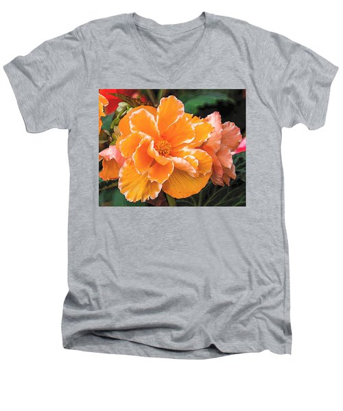 Blooming Begonia Image 1 Men's V-Neck T-Shirt