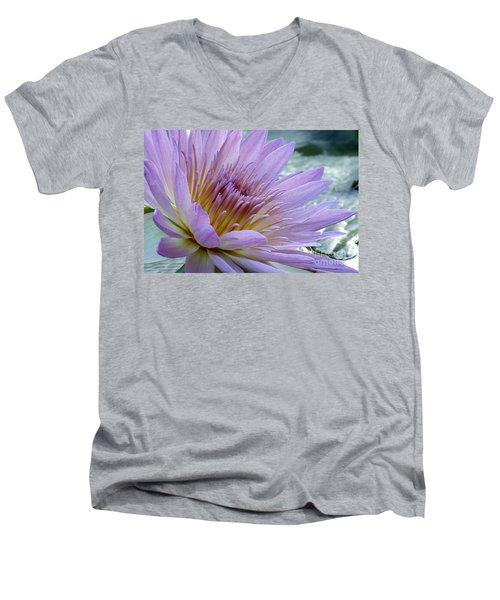 Bloom's Blush Men's V-Neck T-Shirt by Alycia Christine