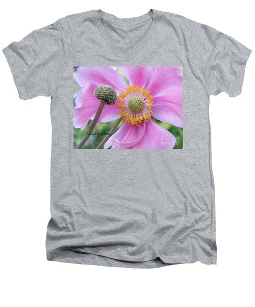 Blossom Men's V-Neck T-Shirt by Lainie Wrightson
