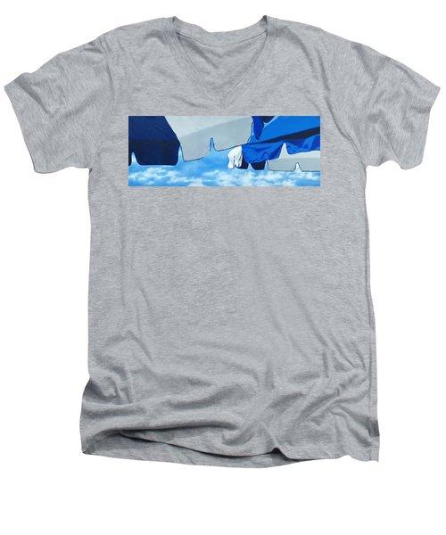Blue Beach Umbrellas 2 Men's V-Neck T-Shirt
