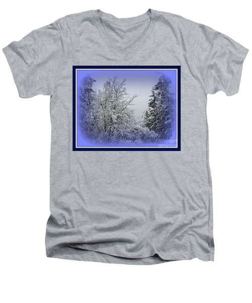 Blue Christmas Men's V-Neck T-Shirt