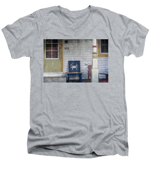 Blue Crab Chair Men's V-Neck T-Shirt by Brian Wallace