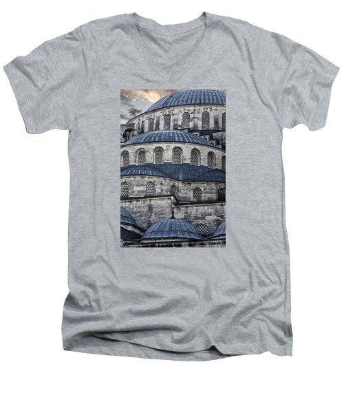 Blue Dawn Blue Mosque Men's V-Neck T-Shirt by Joan Carroll