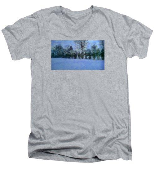Blue Dawn Men's V-Neck T-Shirt by RC deWinter
