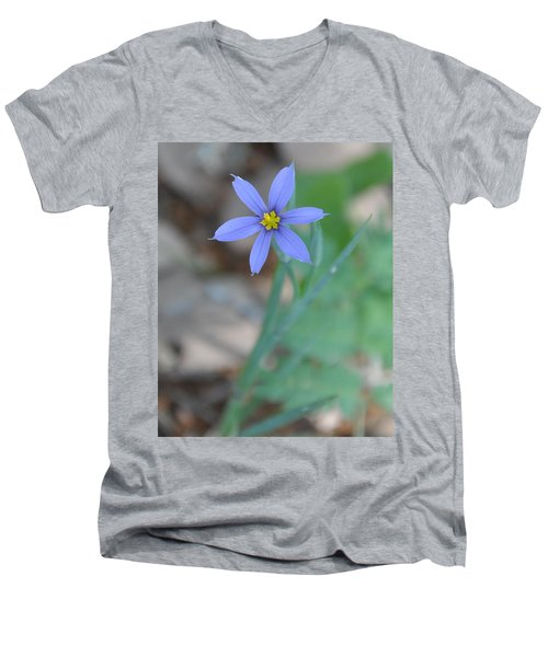 Blue Flower Men's V-Neck T-Shirt