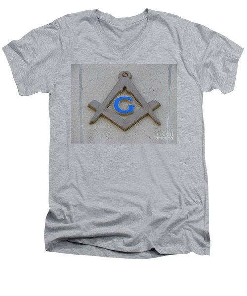 Blue G Men's V-Neck T-Shirt