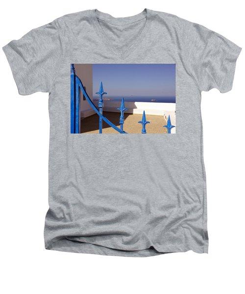 Blue Gate Men's V-Neck T-Shirt