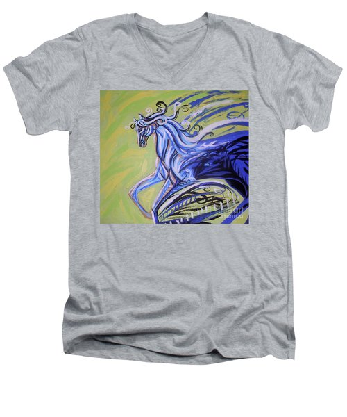 Blue Horse Men's V-Neck T-Shirt