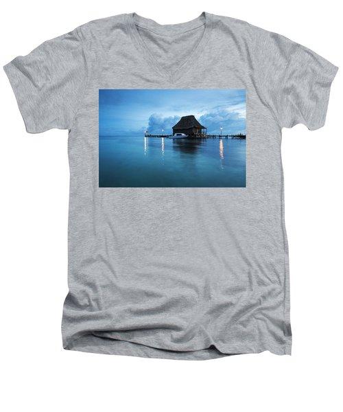 Blue Hour Landscape Men's V-Neck T-Shirt