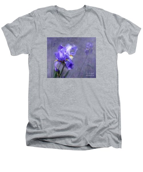 Blue Iris Men's V-Neck T-Shirt
