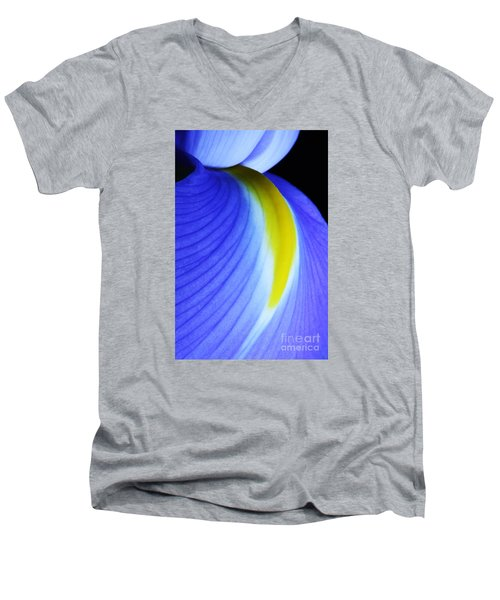 Men's V-Neck T-Shirt featuring the photograph Blue by Judy Whitton