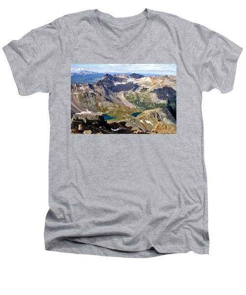 Blue Lakes Beauty Men's V-Neck T-Shirt