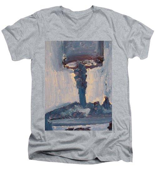 Blue Lamp Men's V-Neck T-Shirt