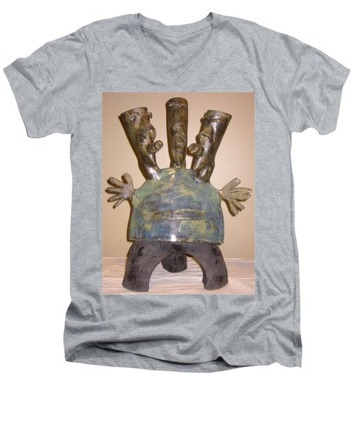 Blue Man - Group Men's V-Neck T-Shirt by Mario Perron