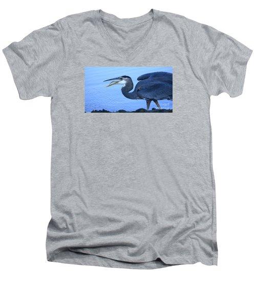 Blue Moment Men's V-Neck T-Shirt