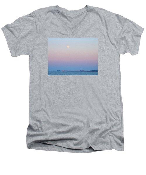 Blue Moon Eve Men's V-Neck T-Shirt by Deborah Lacoste