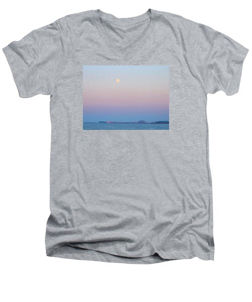 Blue Moon Eve Men's V-Neck T-Shirt